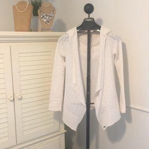 Prana Jackets & Coats - Women's M Prana light sweater jacket cream w/hood